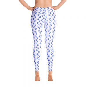 Blue and White American Fur Baby Leggings