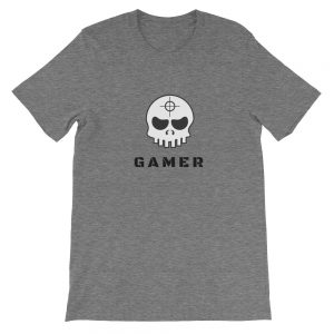Gamer Skull Marksman Short-Sleeve Unisex T-Shirt