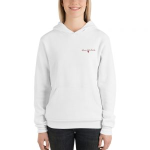 Women of Wine Country Grape Cluster front and back print Unisex hoodie
