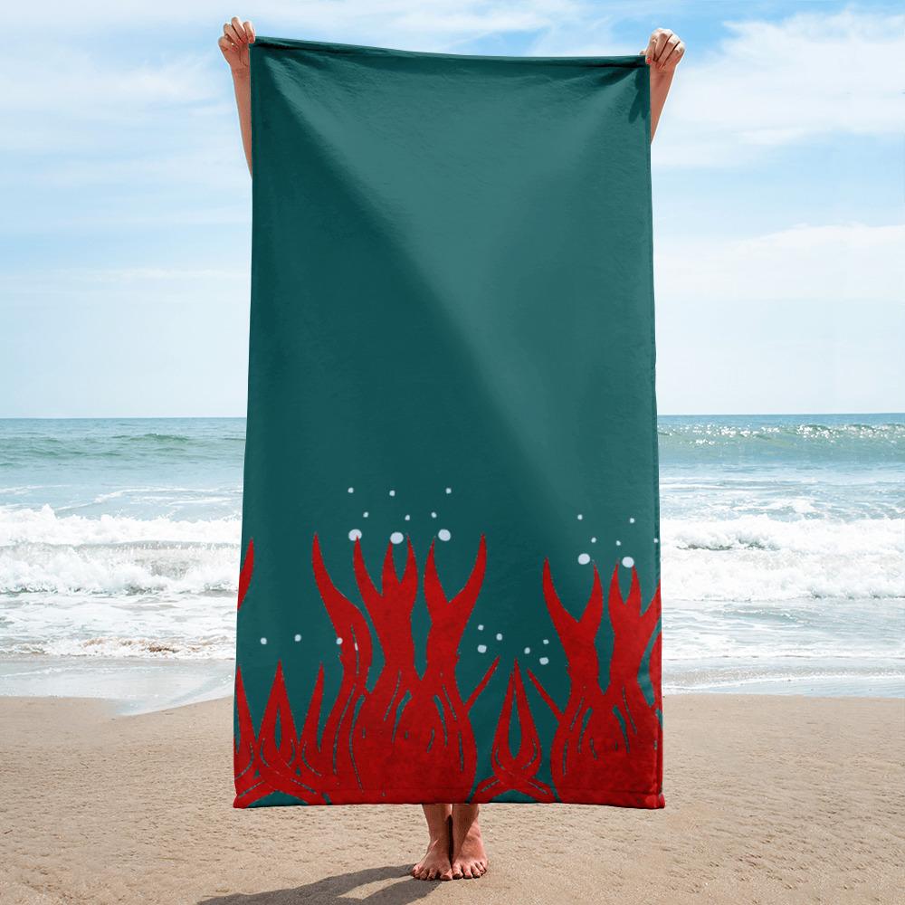 Towel red seaweed