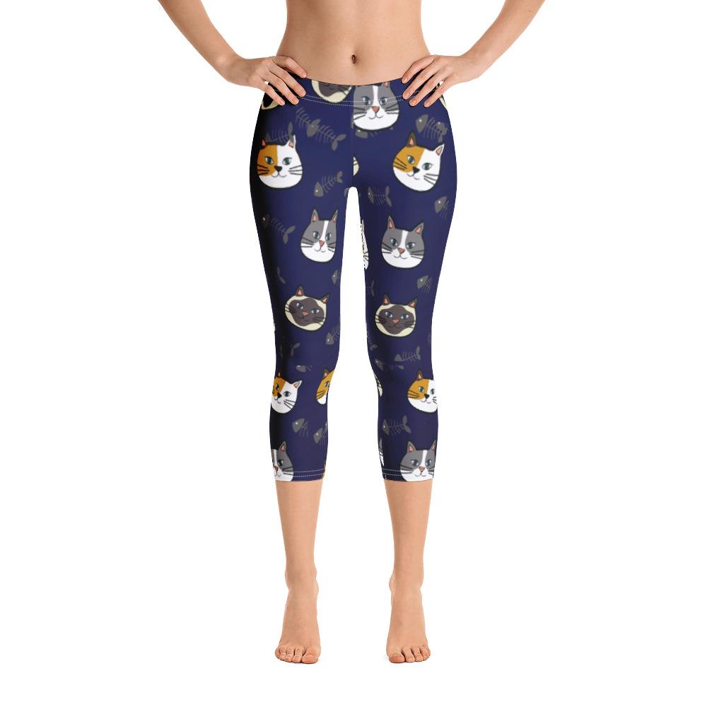 Blue Kitty Capri Leggings Fur Baby Campaign