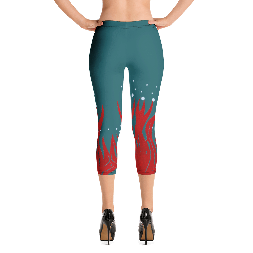 Red Seaweed Capri Leggings for the Blue Body Campaign
