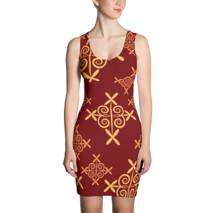 Classy patterned Sublimation Cut & Sew Dress