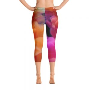 Colorful Smokey Capri Leggings