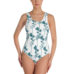 French Floral One-Piece Swimsuit