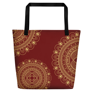 Beautiful Wine and Gold Tote Bag