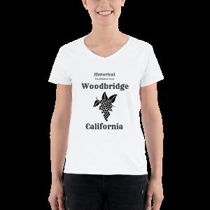 Historical Woodbridge Women's Casual V-Neck Shirt