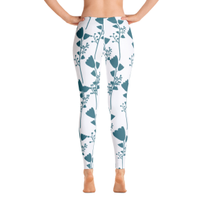 French Inspired blue flower Leggings