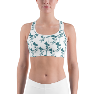 French Floral Sports bra