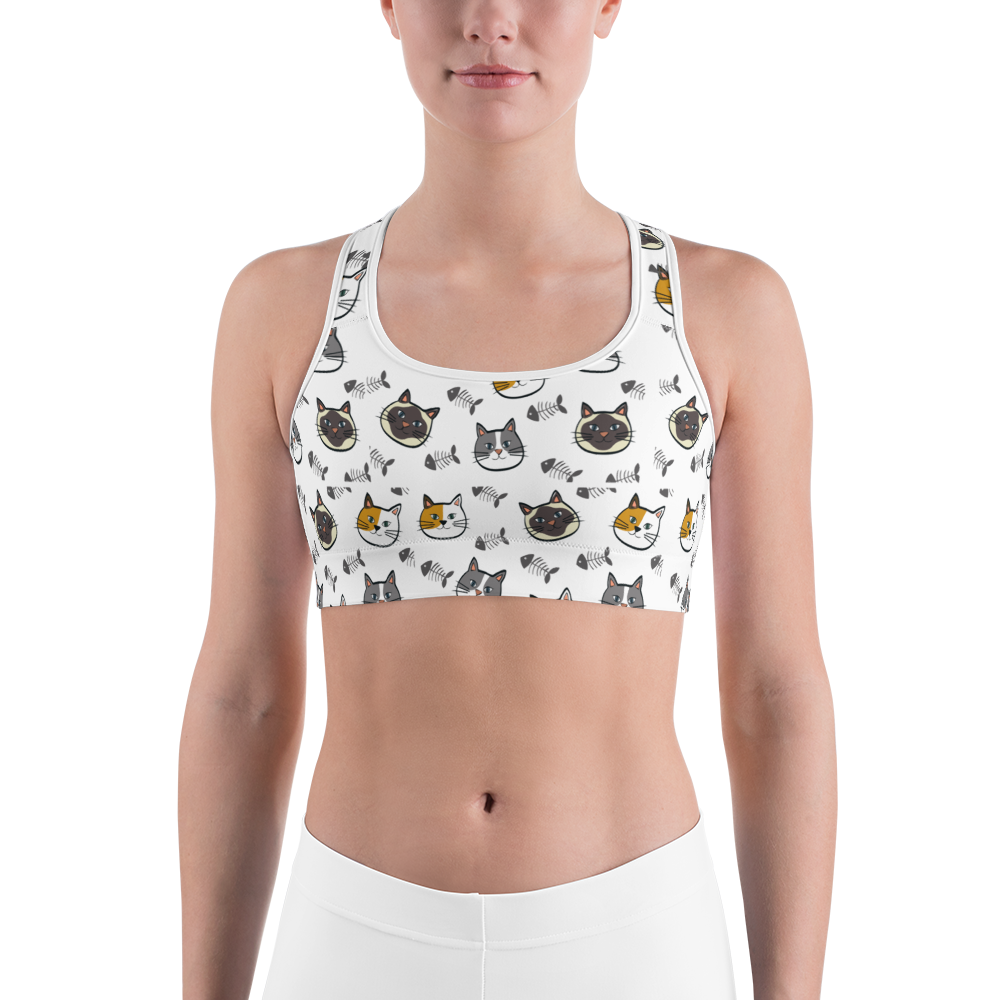 Kitty Kitty Sports bra from our Fur Baby Campaign