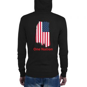 One Nation Unisex zip hoodie