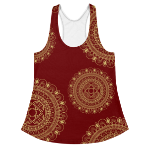 Beautiful Wine and Gold Women's Racerback Tank