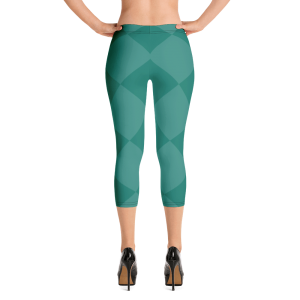Mardi Gras Leggings Green Capri Leggings