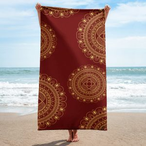 Wine and Gold Towel