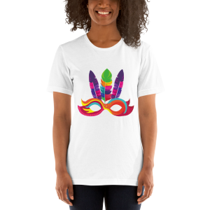 Mardi Gras Mask Short-Sleeve Unisex T-Shirt