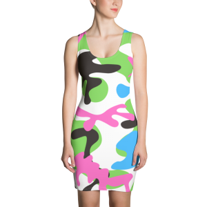 Oink and Green Camo Sublimation Cut & Sew Dress for the Stars and Stripes campaign