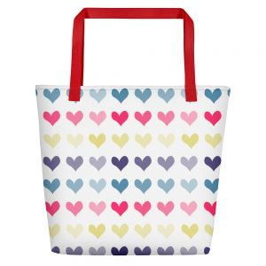 Hearts Beach Bag for the Fur Baby Campaign