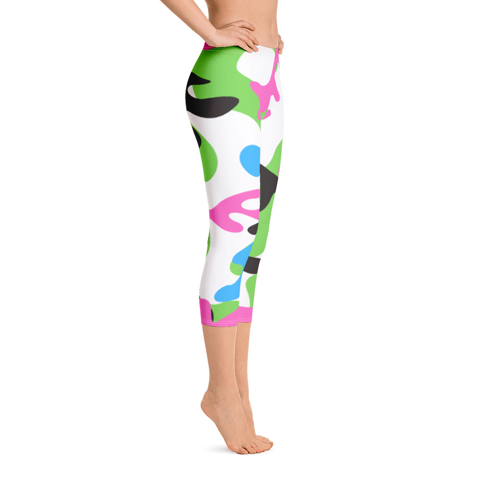 c10f06c135c72 Pink and Green Camo Capri Leggings for the Stars and Stripes campaign