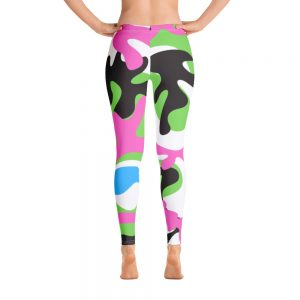 Pink and green Camo Leggings for the Stars and Stripes campaign