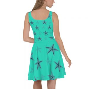 Starfish Skater Dress Blue Body