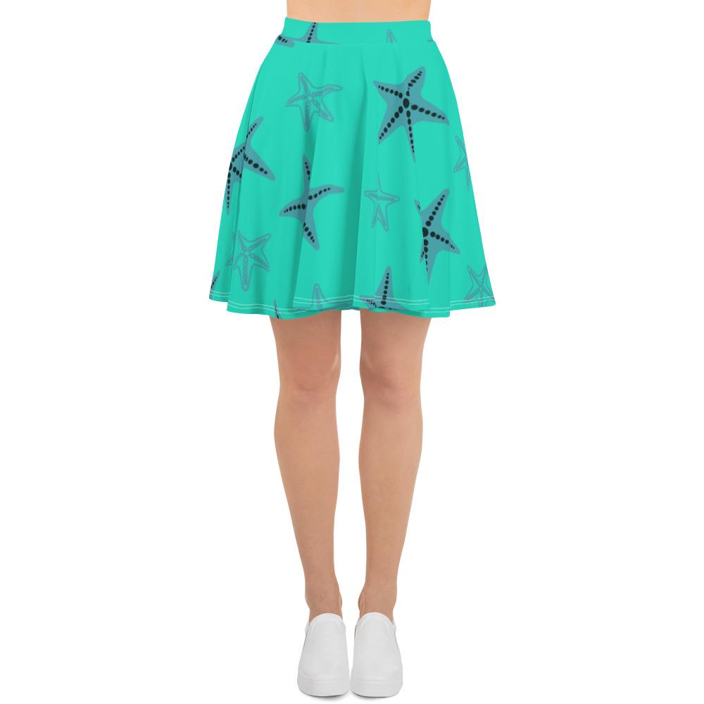 Starfish Skater Skirt Blue Body