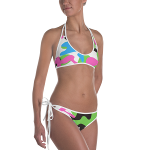 Pink and Green Camo Bikini for the Stars and Stripes Campaign