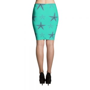 Starfish Pencil Skirt Blue Body