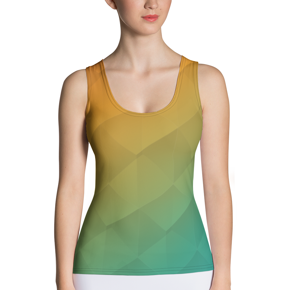 Prism Sublimation Cut & Sew Tank Top for Blue Body