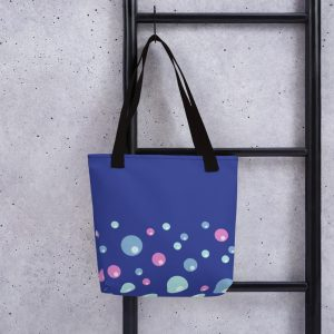 Pink and Blue Bubbles bag Blue Body