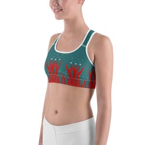 Red Seaweed Sports bra Blue Body