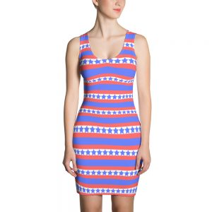 Stars and Stripes Sublimation Cut & Sew Dress