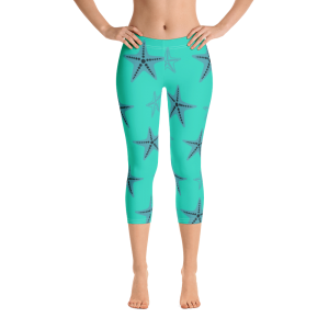 Starfish Capri Leggings Blue Body