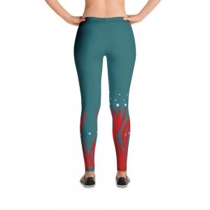Red Seaweed Leggings Blue Body