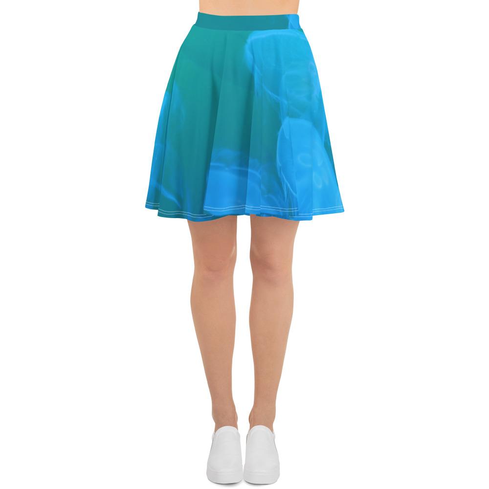 Jellyfish Skater Skirt Blue Body