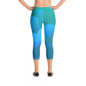 Jellyfish Capri Leggings Blue Body