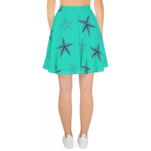 Starfish Skater Skirt Blue Body