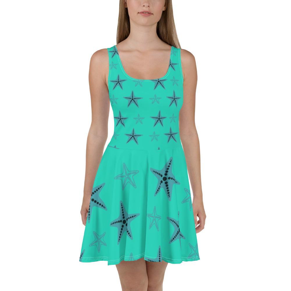 Starfish Skater Dress Blue Body