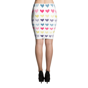 Hearts Pencil Skirt for the Fur Baby Campaign