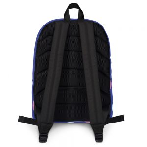 Pink and Blue Bubbles Backpack Blue Body