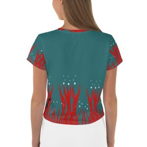 Red Seaweed Crop Tee Blue Body