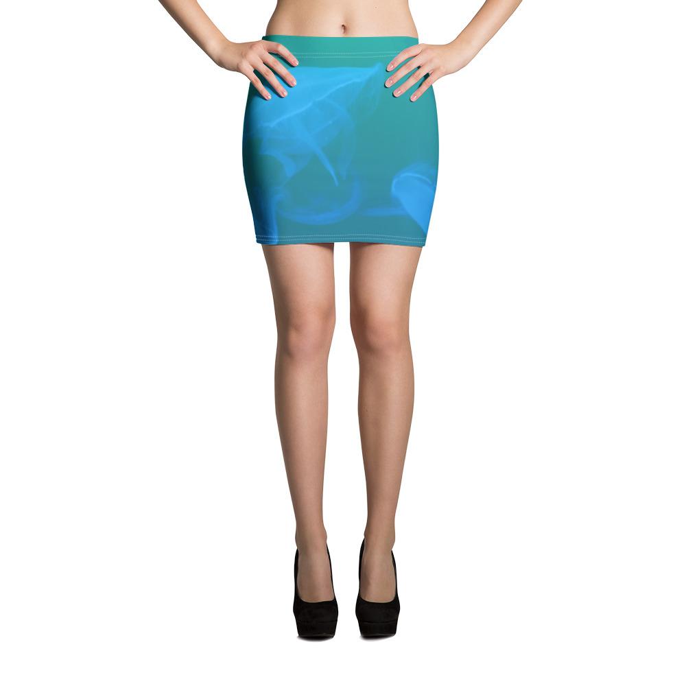 Jellyfish Mini Skirt Blue Body