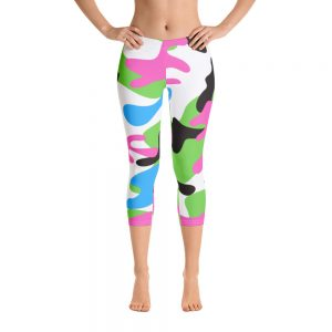 Pink and Green Camo Capri Leggings for the Stars and Stripes campaign