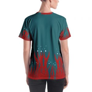 Red Seaweed Women's T-shirt Blue Body