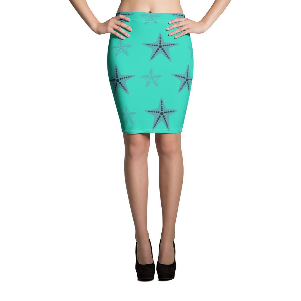 Starfish Pencil Skirt Blue Body