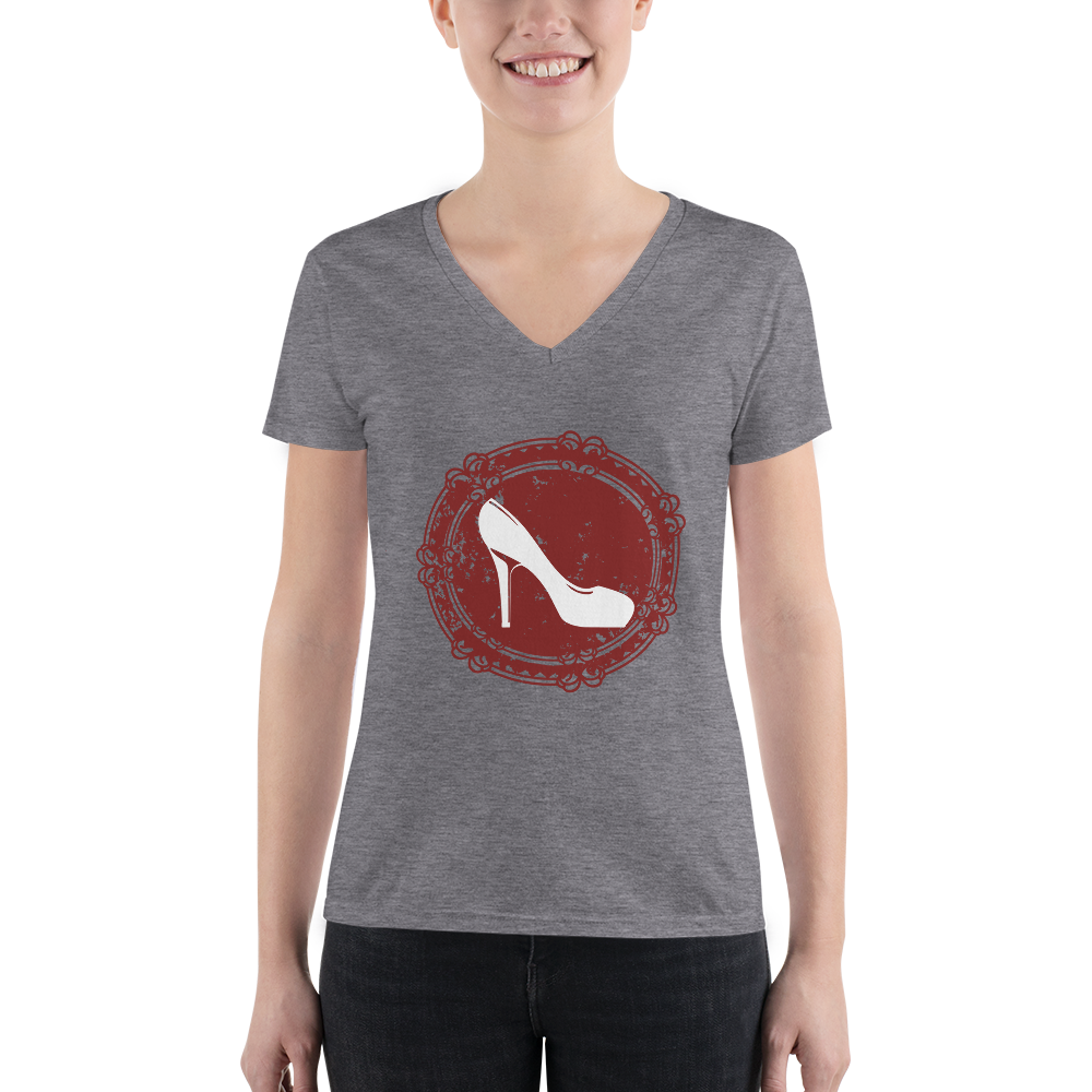ae92895ee Women of Wine Country Shoe Bella + Canvas 8435 Triblend Deep V-Neck T-Shirt  with Tear Away Label