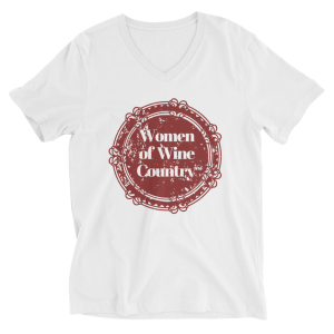 Women of Wine Country Bella + Canvas 3005 Unisex Short Sleeve V-Neck Jersey Tee with Tear Away Label