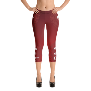 Women of Wine Country Wine Tasting Capri Leggings