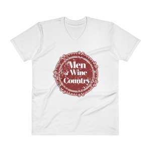Men of Wine Country Support of Women V-Neck T-Shirt