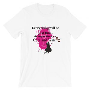 Everything will be just fine Cats Short-Sleeve Unisex T-Shirt